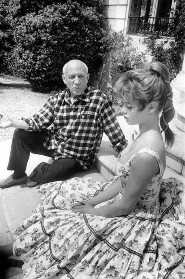 Пабло Пикассо и Бриджит Бардо, 1956.