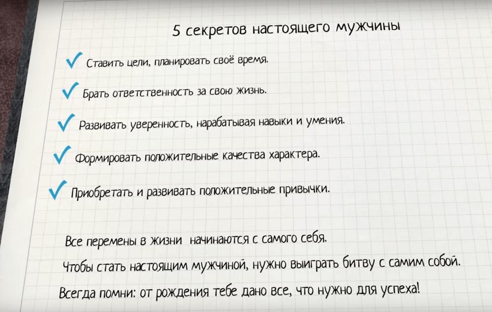 Пять качеств настоящего мужчины