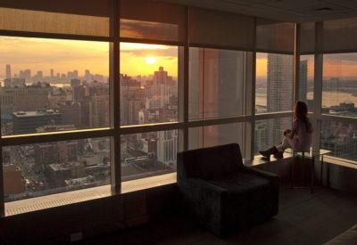 Рассвет утро окно город красиво